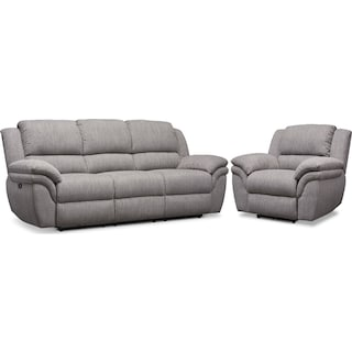 Aldo Power Reclining Sofa and Recliner Set