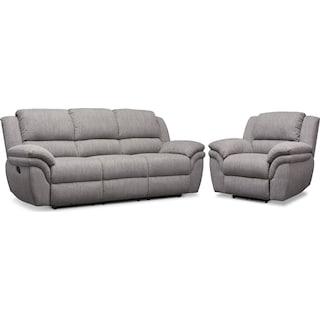 Aldo Manual Reclining Sofa and Recliner Set