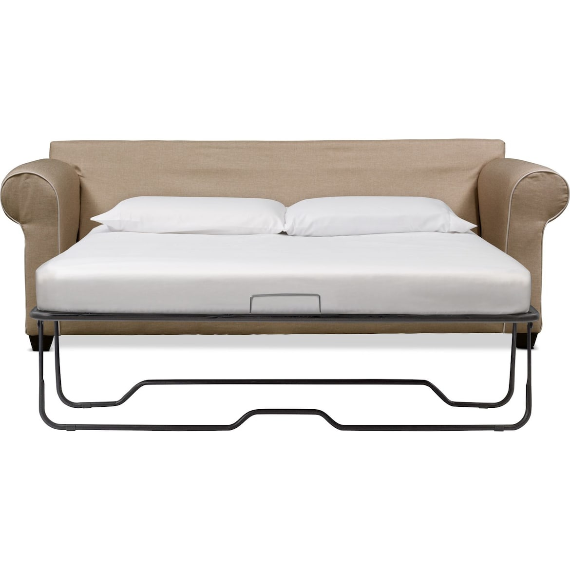 Carla Queen Innerspring Sleeper Sofa Beige Value City
