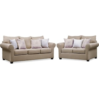 Carla Queen Sleeper Sofa and Loveseat Set