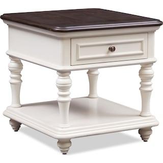 Charleston End Table - White
