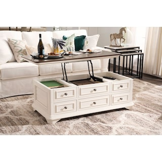 Charleston Lift-Top Coffee Table - White
