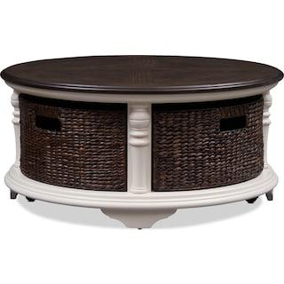Charleston Round Coffee Table - White