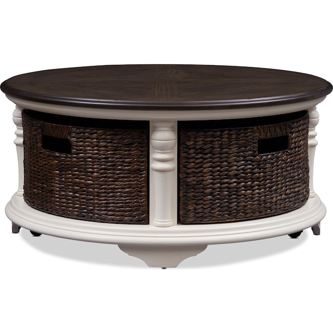 Accent and Occasional Furniture - Charleston Round Coffee Table - White