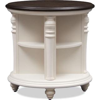 Charleston Round End Table - White
