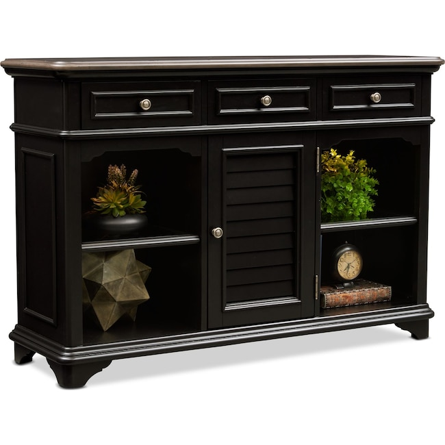 Accent and Occasional Furniture - Charleston Sofa Table - Black