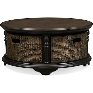 Charleston Round Coffee Table - Black