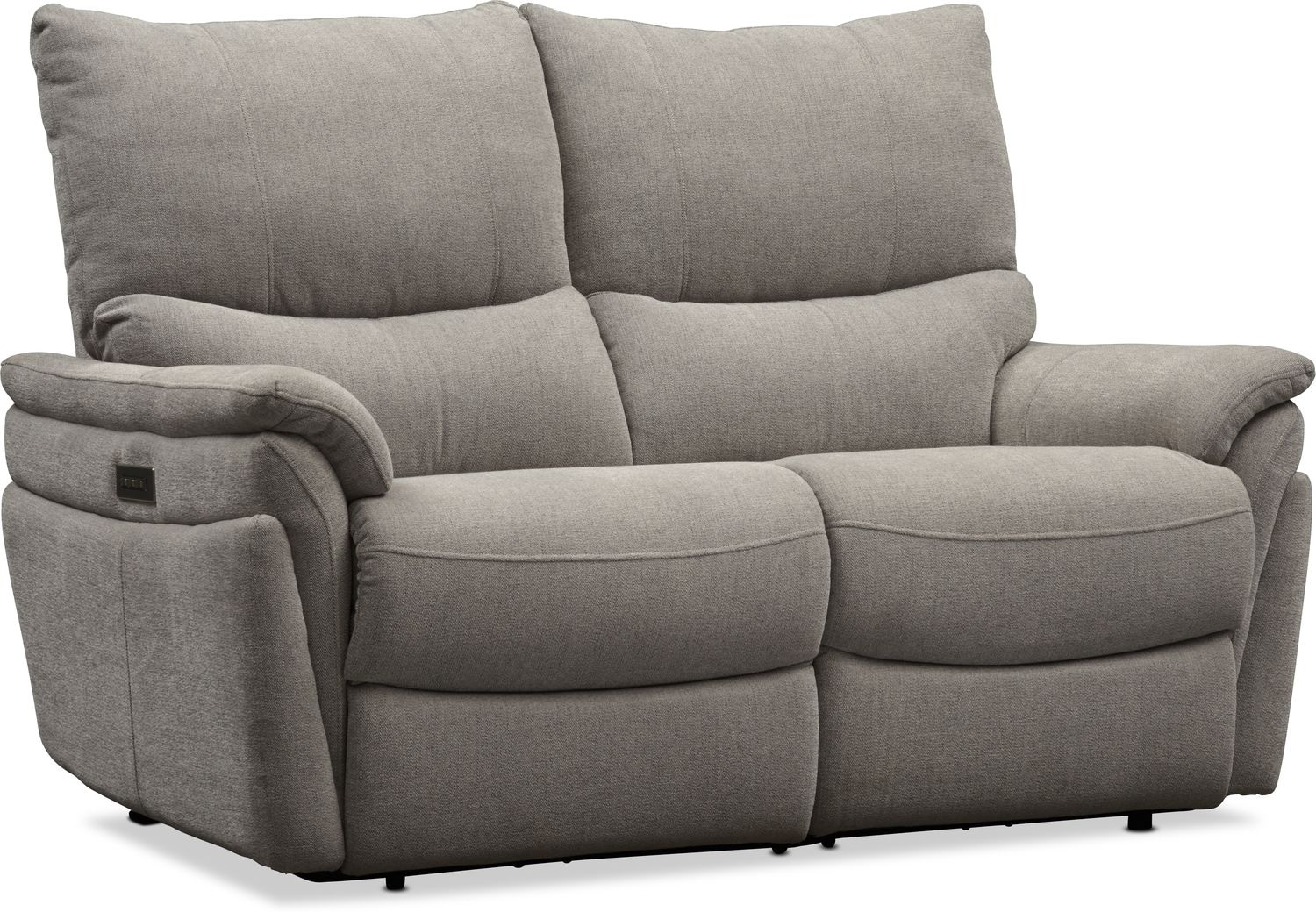 Living Room Furniture - Maddox Triple Power Reclining Loveseat
