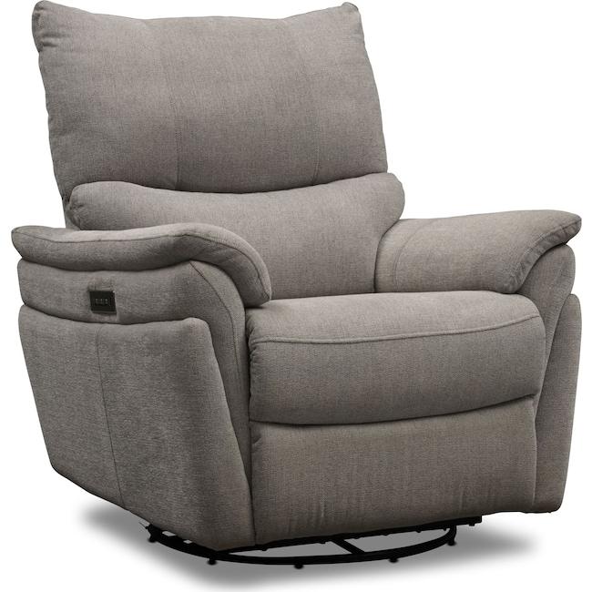 Living Room Furniture - Maddox Triple-Power Swivel Recliner