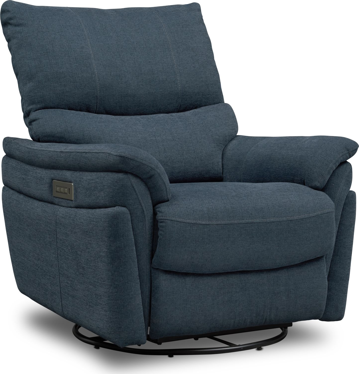 Living Room Furniture - Maddox Triple-Power Reclining Swivel Recliner