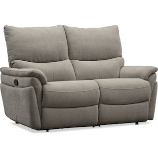 Maddox Manual Reclining Loveseat - Platinum