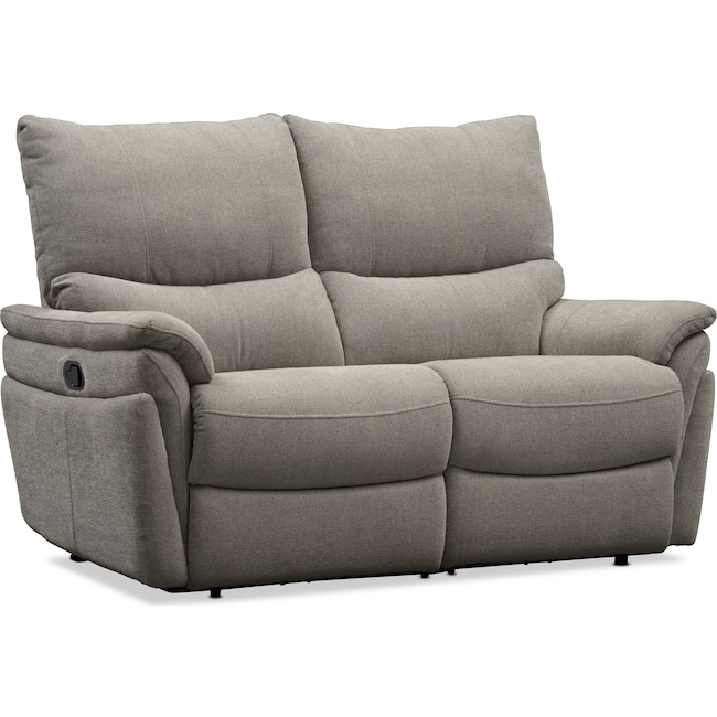 Living Room Furniture - Maddox Manual Reclining Loveseat