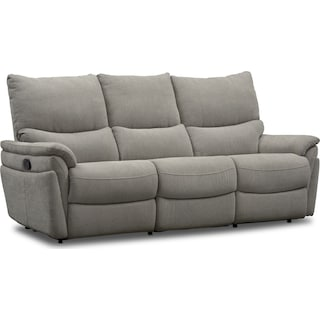 Maddox Manual Reclining 2-Piece Sofa - Platinum
