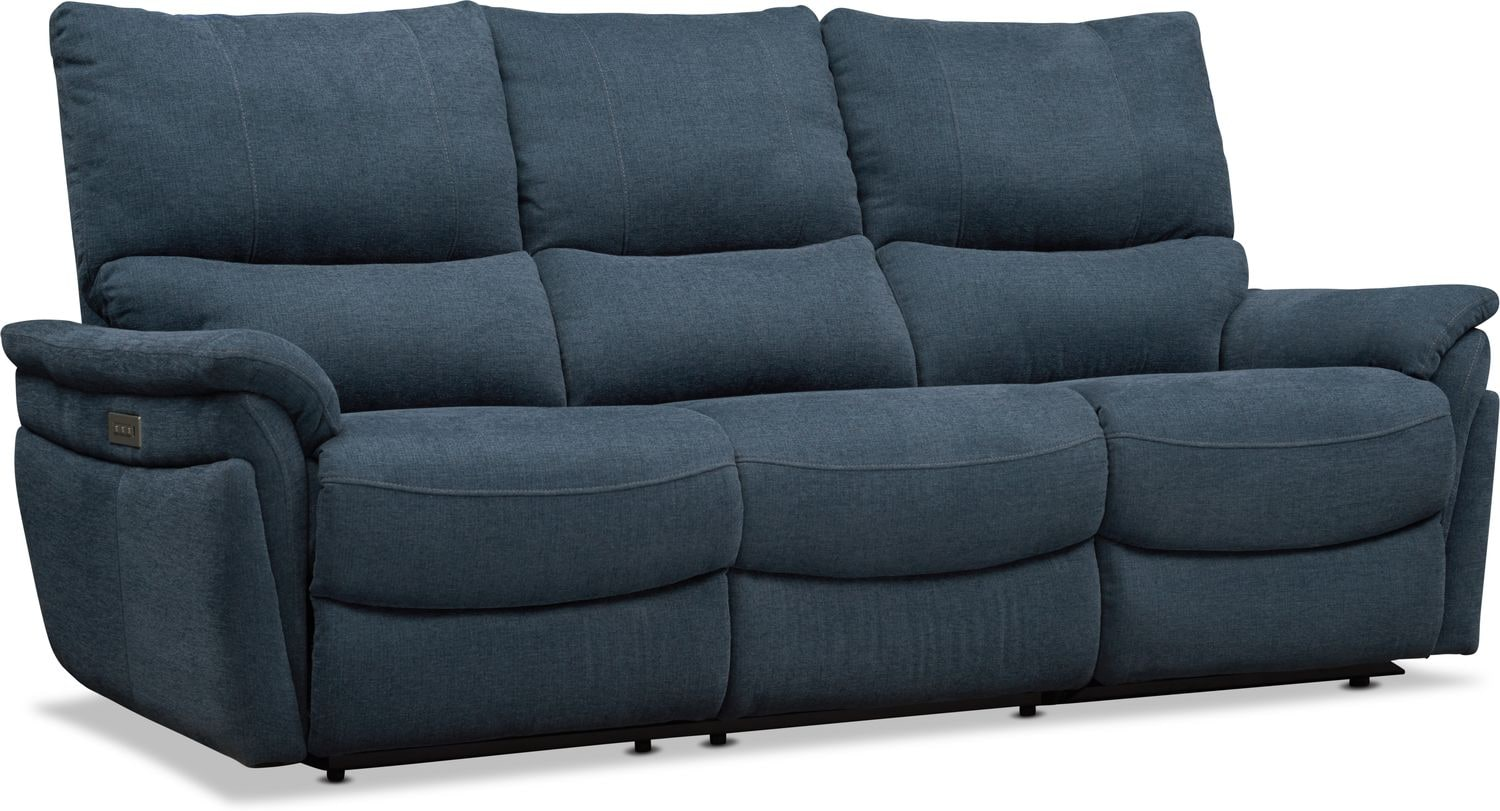 Living Room Furniture - Maddox Triple Power Reclining 2-Piece Sofa