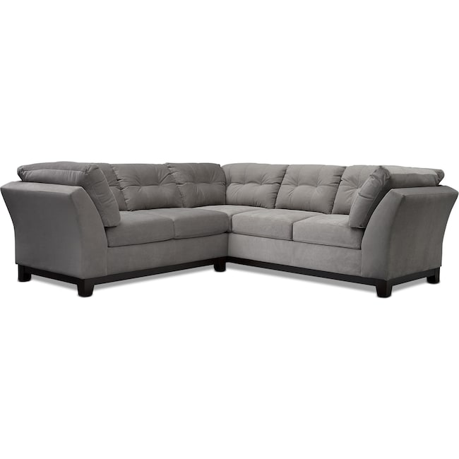 Living Room Furniture - Sebring 2-Piece Small Sectional