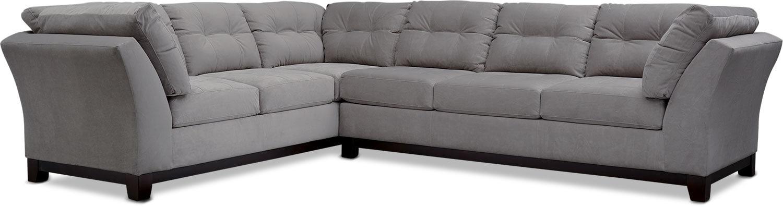 Living Room Furniture - Sebring 2-Piece Large Sectional