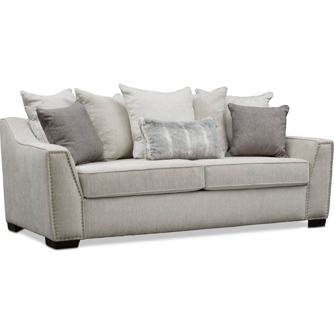 Roxie Sofa - Gray | Value City Furniture and Mattresses
