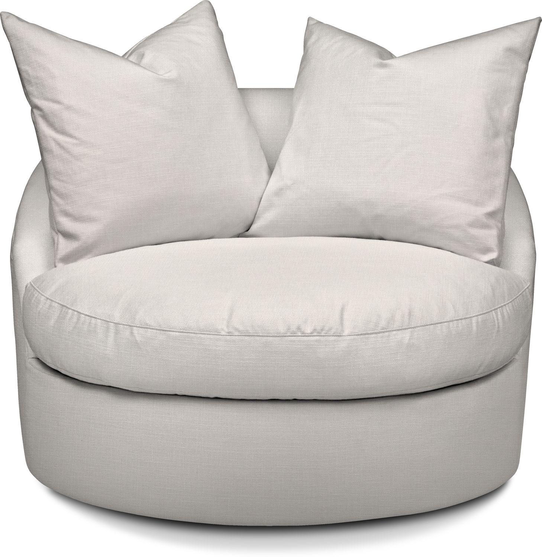 Living Room Furniture - Plush Swivel Chair