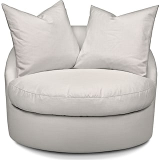 Plush Swivel Chair