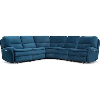 Cruiser 5-Piece Dual Power Reclining Sectional with 3 Reclining Seats - Ink