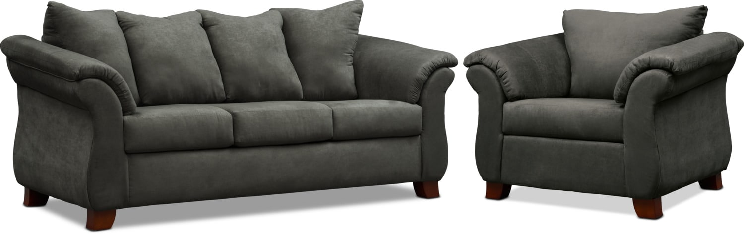 Living Room Furniture - Adrian Sofa and Chair Set
