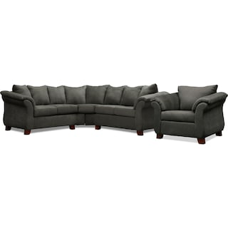Adrian 2-Piece Sectional and Chair Set