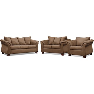 Adrian Sofa, Loveseat and Chair Set