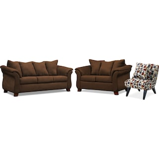 Adrian Sofa, Loveseat and Accent Chair Set