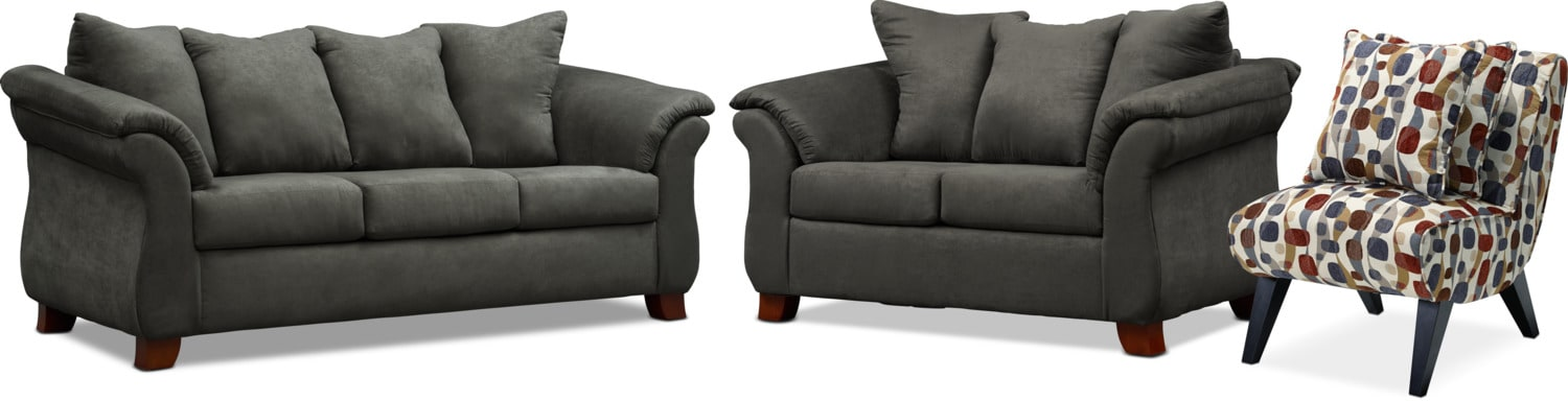 Adrian Sofa, Loveseat and Accent Chair