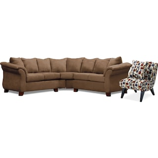 Adrian 2-Piece Sectional and Accent Chair Set