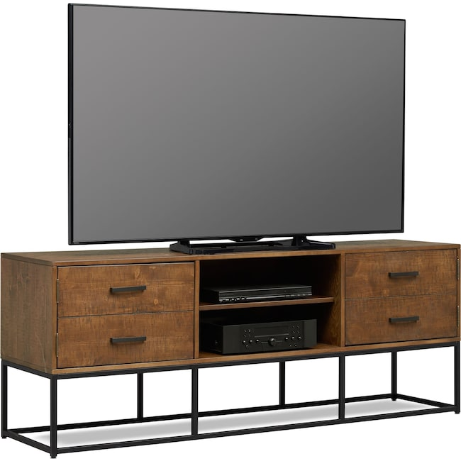 """Entertainment Furniture - Carter 74"""" TV Stand - Pine"""