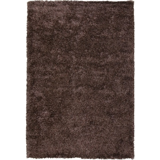 Lifestyle Shag Area Rug - Chocolate