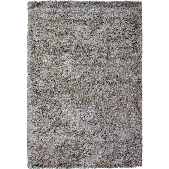 Rugs - Lifestyle Shag 5' x 8' Area Rug - Silvery Teal