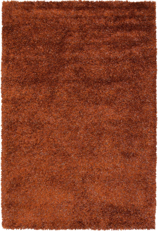 Rugs - Lifestyle Shag 5' x 8' Area Rug - Rust