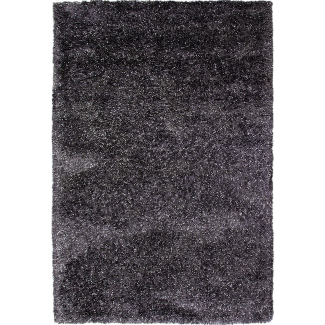 Rugs - Lifestyle Shag Area Rug - Charcoal