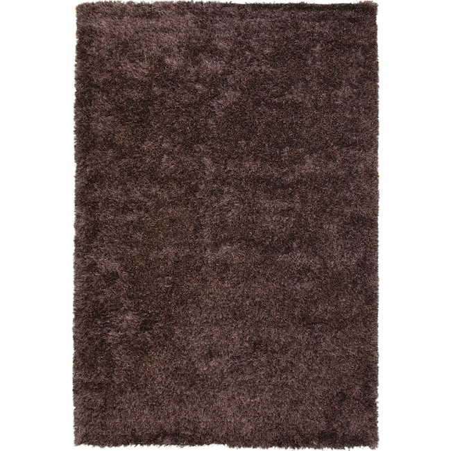 Rugs - Lifestyle Shag Area Rug - Chocolate