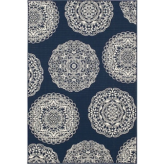 Anastasia Indoor/Outdoor Rug - Navy/Ivory