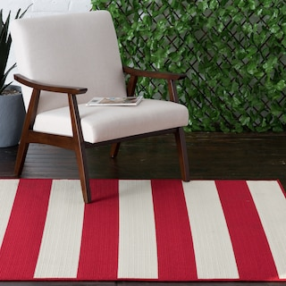 Awning Indoor/Outdoor Rug - Red