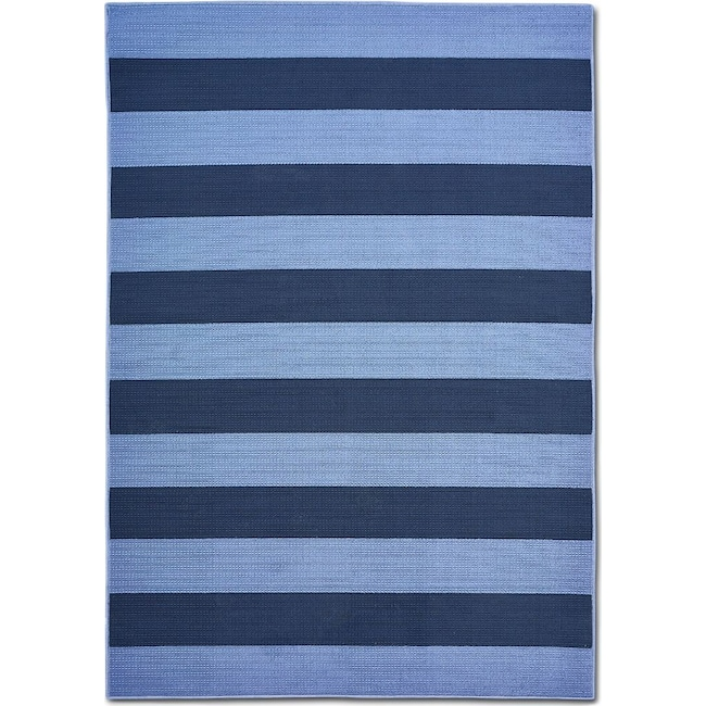 Outdoor Furniture - Awning 7' x 10' Indoor/Outdoor Rug - Blue/Navy