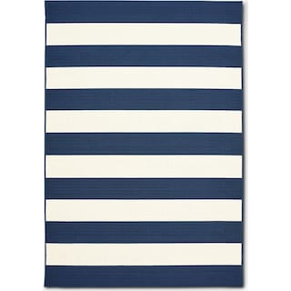Awning 8' x 10' Indoor/Outdoor Rug - Navy