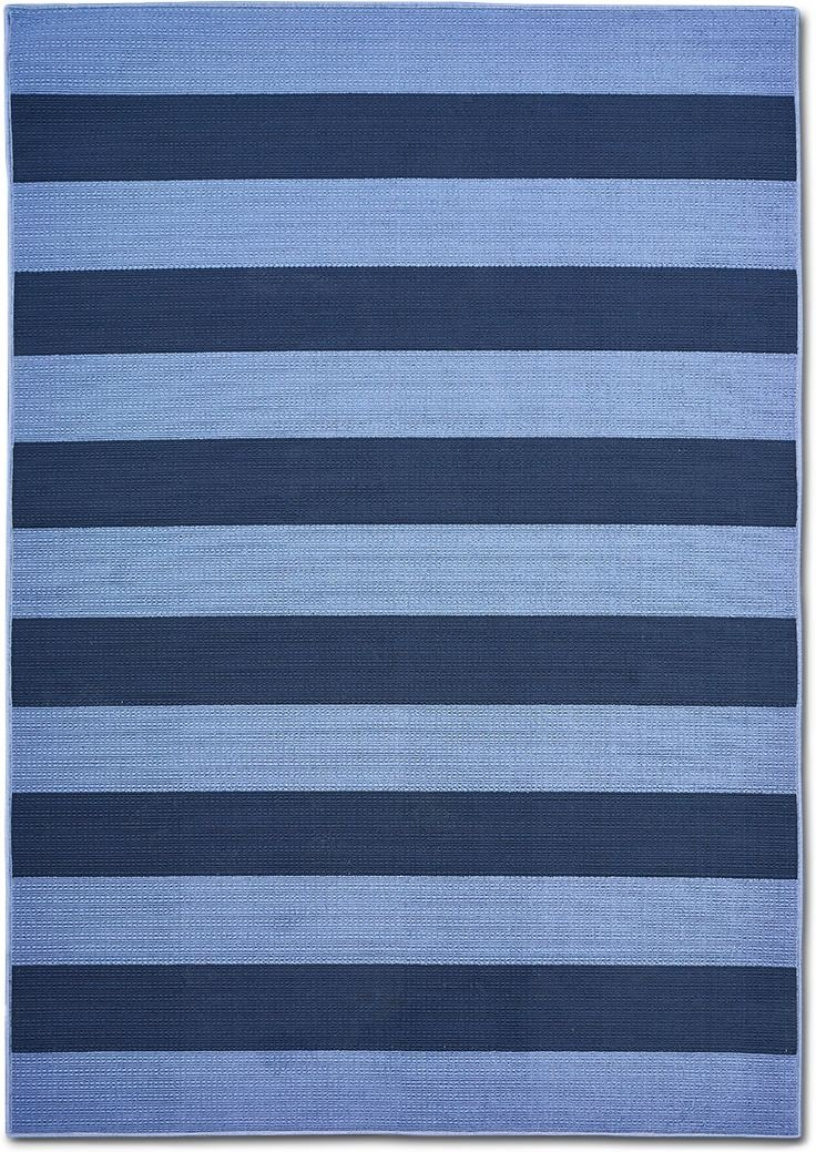 Outdoor Furniture - Awning 8' x 10' Indoor/Outdoor Rug - Blue/Navy