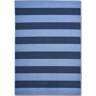 Awning 8' x 10' Indoor/Outdoor Rug - Blue/Navy