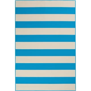 Awning 8' x 10' Indoor/Outdoor Rug - Turquoise