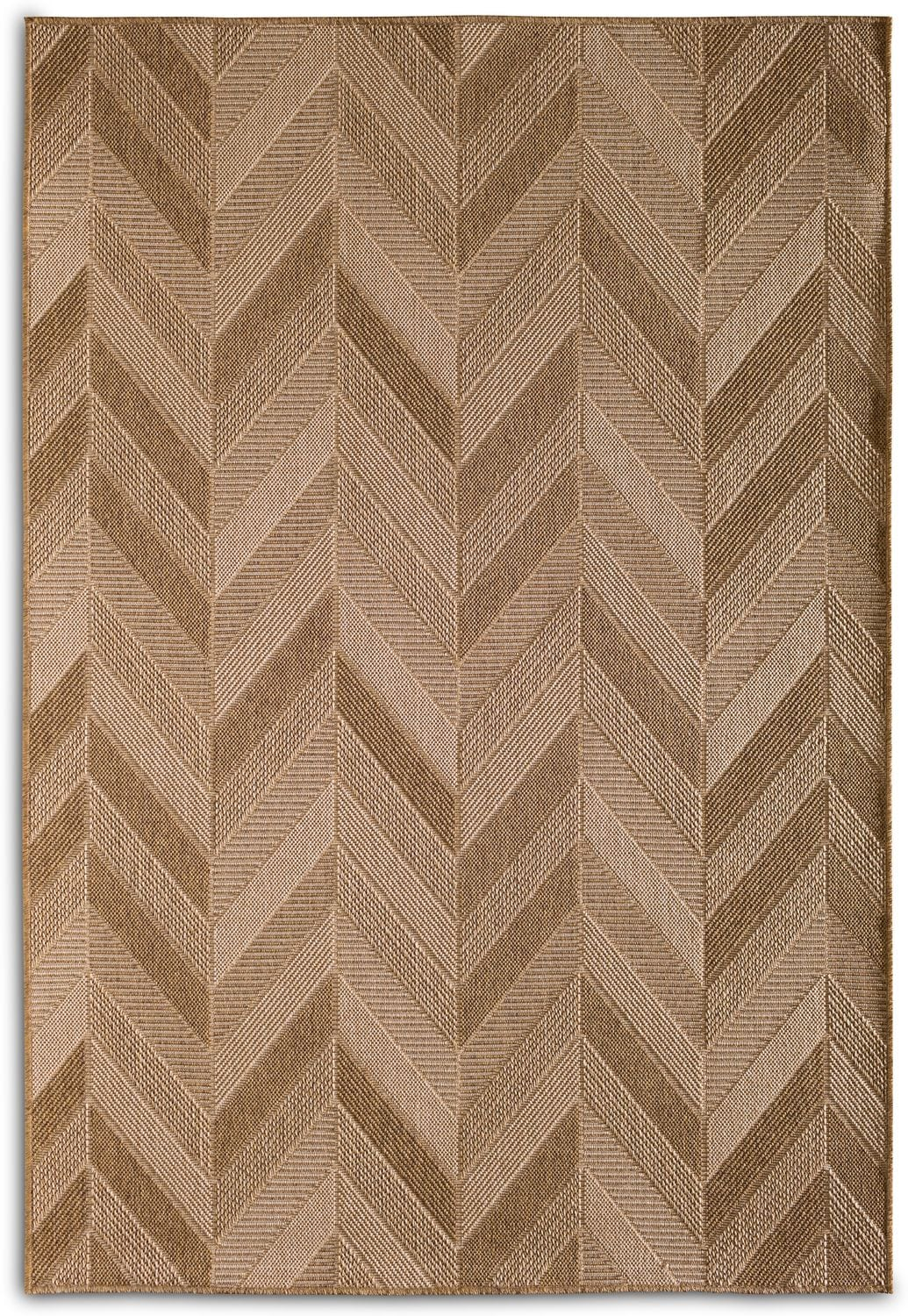 Outdoor Furniture - Chevron Indoor/Outdoor Rug - Natural