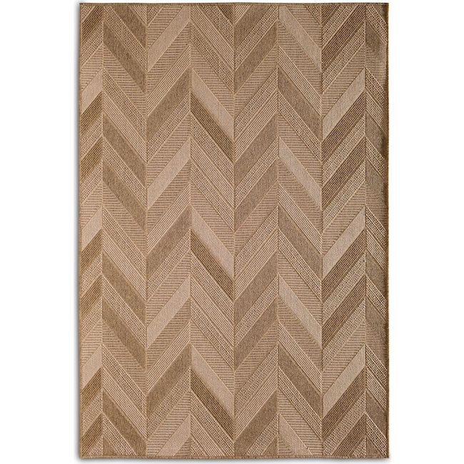 Outdoor Furniture - Chevron 5' x 8' Indoor/Outdoor Rug - Natural