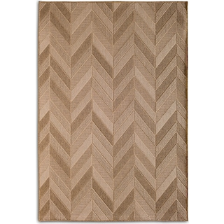 Chevron 7' x 10' Indoor/Outdoor Rug - Natural