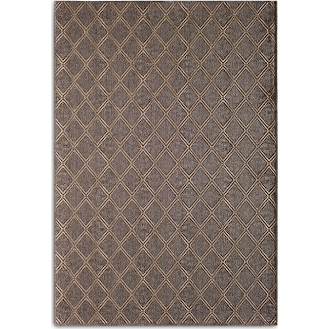 Outdoor Furniture - Diamond Indoor/Outdoor Rug - Gray