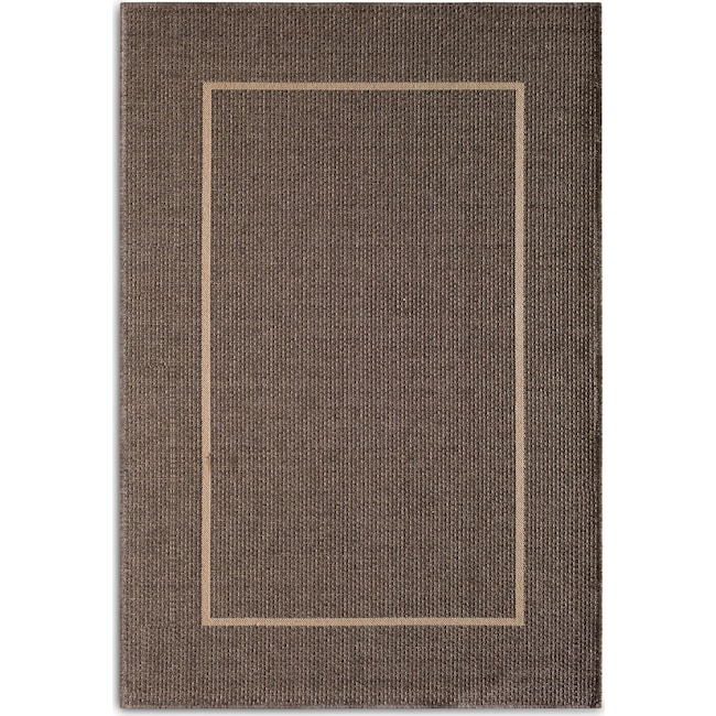 Outdoor Furniture - Pebble 7' x 10' Indoor/Outdoor Rug - Gray