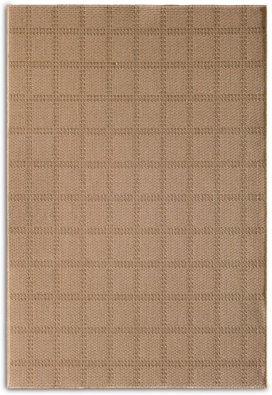 Outdoor Furniture - Plaid Indoor/Outdoor Rug - Beige