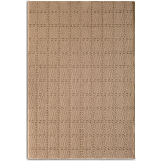 Plaid 5' x 8' Indoor/Outdoor Rug - Beige